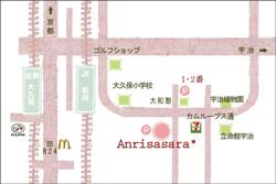 宇治の美容院 アンリササラ  マップ